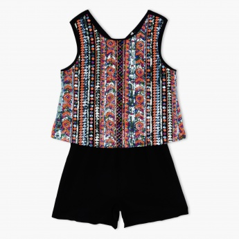 Sleeveless Sequin Embellished Playsuit