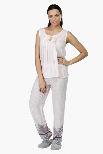 Sleeveless Top and Pyjama Set