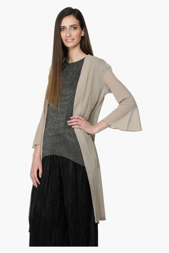 3/4 Sleeves Shrug with Open Front