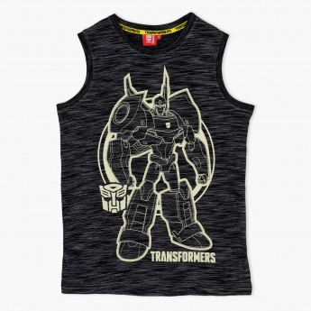 Transformers Glow-In-The-Dark Crew Neck T-Shirt