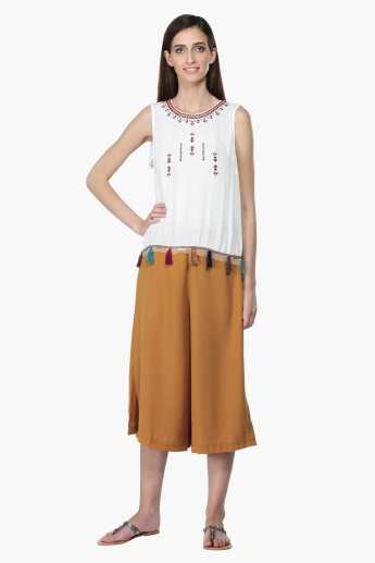 Culotte Pants with Side Slits
