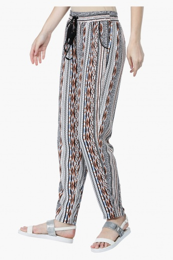All Over Print Mid-Rise Harem Pants