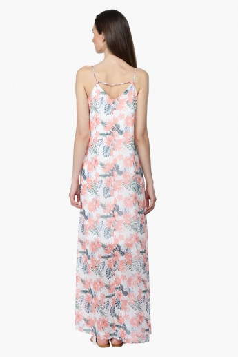 Printed Spaghetti Straps Maxi Dress