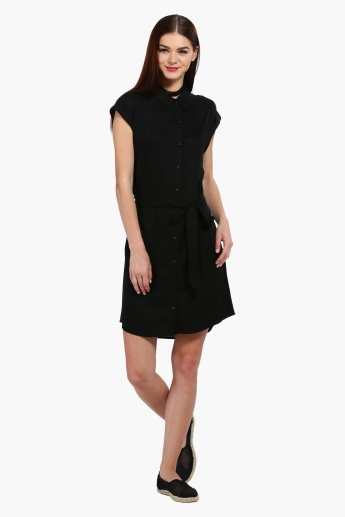 Short Sleeves Shirt Dress