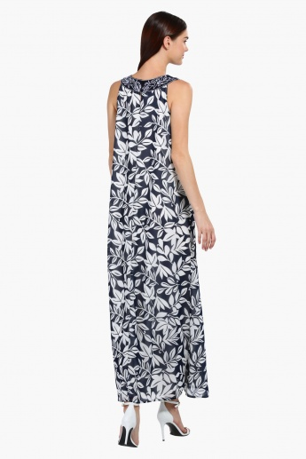 Printed Sleeveless Maxi Dress