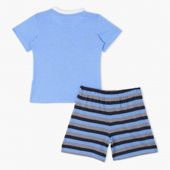 Printed T-Shirt and Shorts Set
