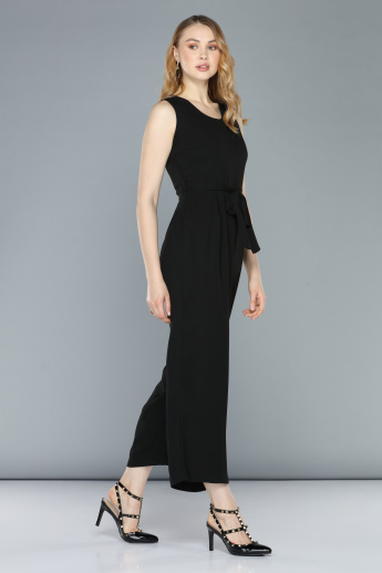 Sleeveless Jumpsuit with Round Neck