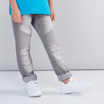 Full Length Jeans with Cut and Sew Pattern