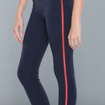 Full Length Leggings with Side Stripe and Elasticised Waistband