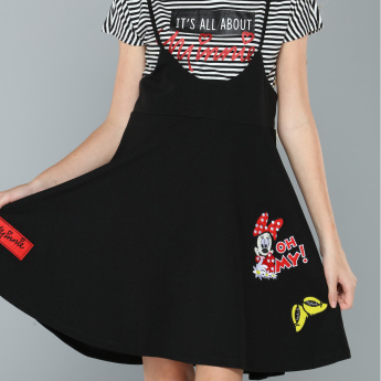 Minnie Mouse Printed Sleeveless Dress