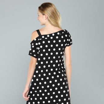 Minnie Mouse Printed One Shoulder Dress