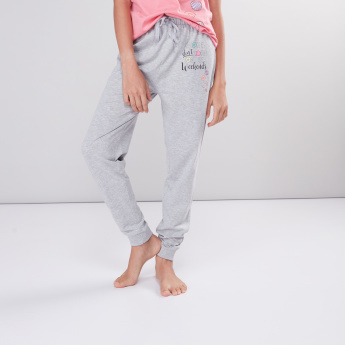 Printed T-Shirt with Full Length Jog Pants