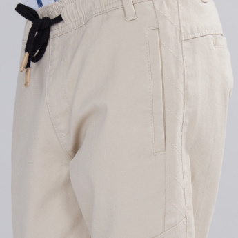 Full Length Pants with Pocket Detail and Elasticised Waistband