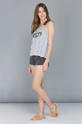Printed T-Shirt with Short Set