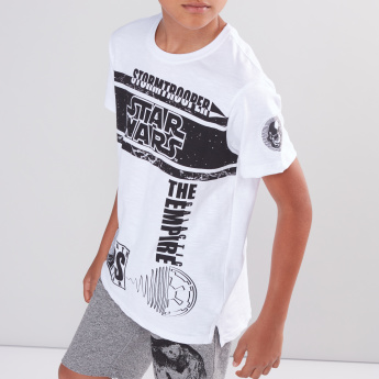 Star Wars Printed Round Neck Short Sleeves T-Shirt