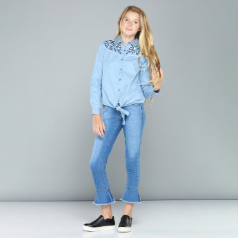 Embroidered Long Sleeves Shirt