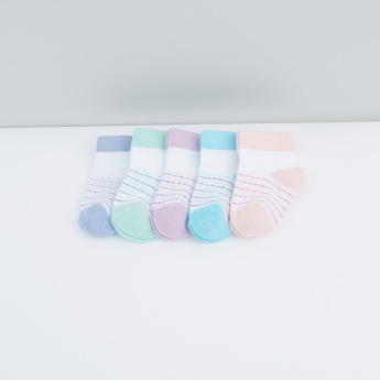 Striped Ankle Length Socks -Set of 5