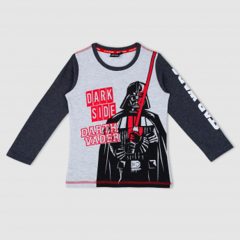 Star Wars Print Long Sleeves T-Shirt