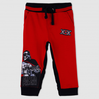Star Wars Printed Full Length Jog Pants with Elasticised Waistband