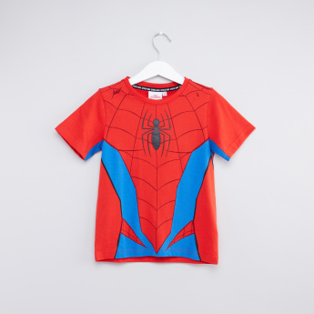 Printed Spider-Man Round Neck T-Shirt