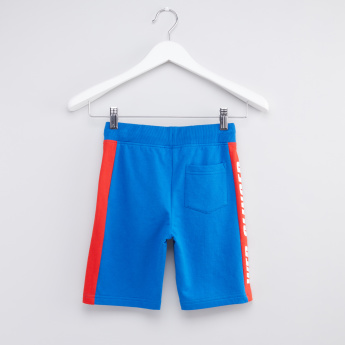 Spider-Man Printed Shorts with Elasticised Waistband