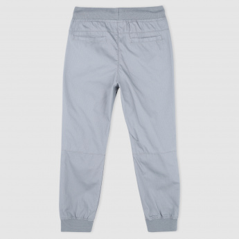 Woven Full Length Pants with Elasticised Waistband