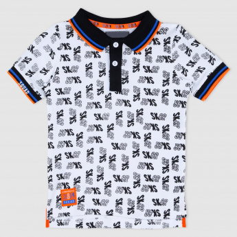 Printed Polo Neck Short Sleeves T-Shirt