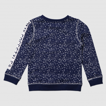 Printed Round Neck Sweatshirt