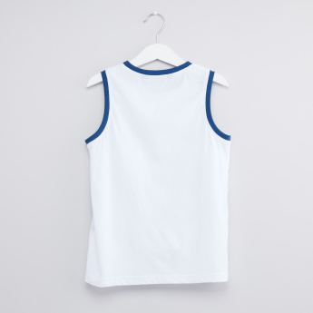 Printed Round Neck Sleeveless T-Shirt