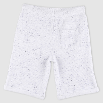 Printed Shorts with Drawstring and Pocket Detail