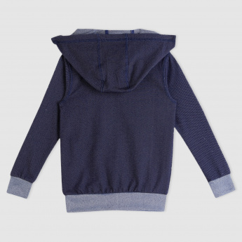Long Sleeves Sweat Top with Hood