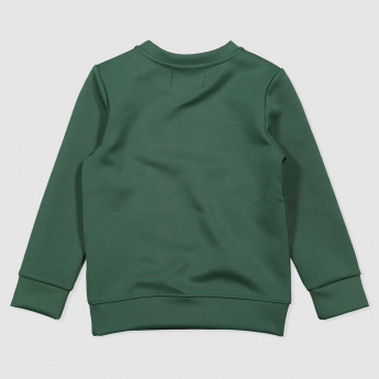 Long Sleeves Sweat Top with Front Embossing