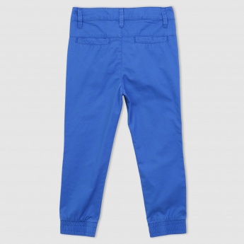 Full Length Jog Pants with Button Closure
