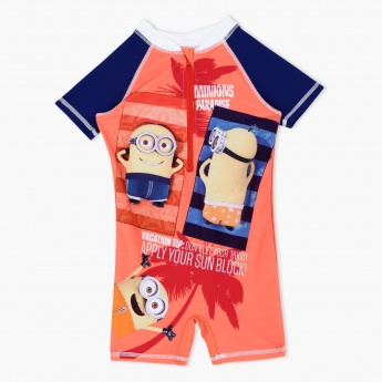 Minions Printed Swimsuit