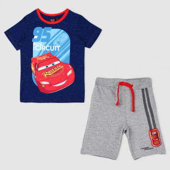Cars Print Short Sleeves T-Shirt and Short Set
