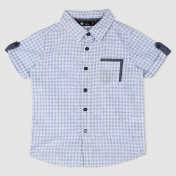 Chequered Shirt with Pocket Detailing