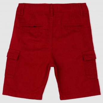 Woven Cargo Shorts with Pocket Detailing