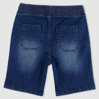 Pocket Detail Denim Shorts with Elasticised Waistband