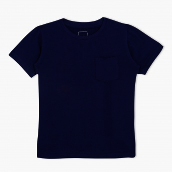 Crew Neck Short Sleeves T-Shirt with Patch Pocket