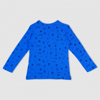 All Over Print T-Shirt with Long Sleeves