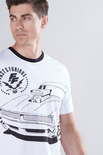 The Fast and the Furious Printed T-Shirt with Round Neck