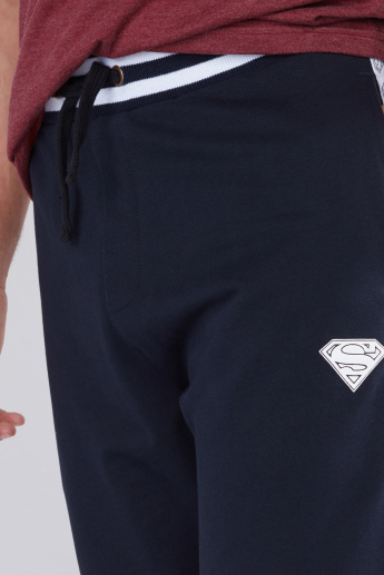 Superman Printed Full Length Jog Pants with Elasticised Waistband