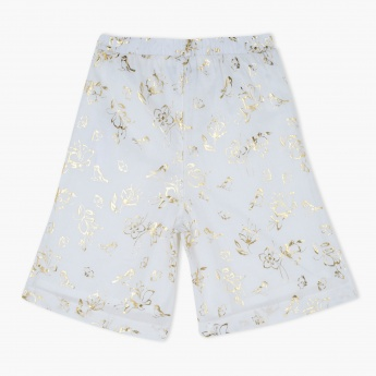 Floral Print Shorts with Elasticised Waistband
