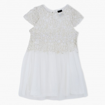Embroidered Woven Lace Dress