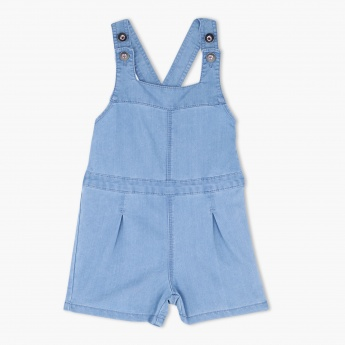 Denim Playsuit with Cross Strap
