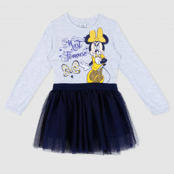 Minnie Mouse Printed T-Shirt and Skirt
