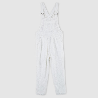 Lace Dungaree with Pocket Detail and Adjustable Straps