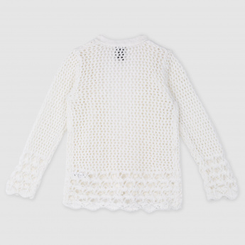 Woven Long Sleeves Sweater