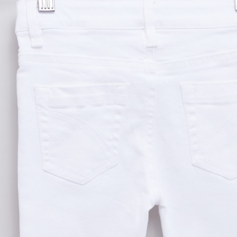 Butterfly Cut Detail Jeans