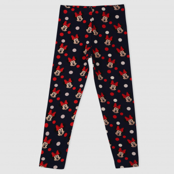 Minnie Mouse Print Leggings Elasticised Waistband